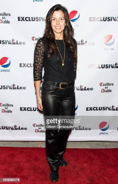 Jewelry designer Donna Distefano attends the New York Launch party for Exclusivleecom at Stray Kat Gallery on September 18 2014 in New York City