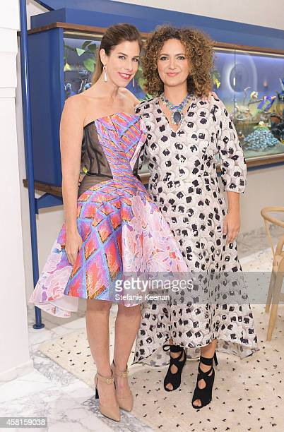 Jewelry designer Irene Neuwirth and designer Pam Shamshiri attend the Irene Neuwirth Flagship Grand Opening on October 30 2014 in West Hollywood...