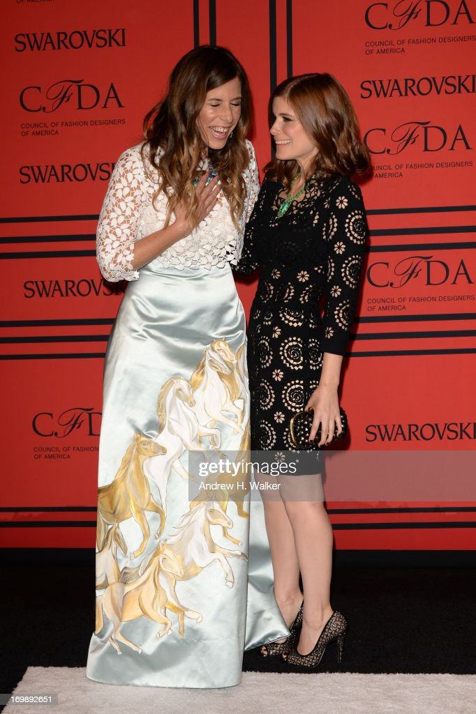 Jewelry Designer Irene Neuwirth and Kate Mara attend the 2013 CFDA Fashion Awards on June 3, 2013 in New York, United States.