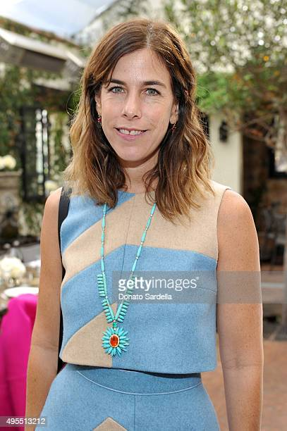 Jewelry designer Irene Neuwirth attends a priivate luncheon hosted by Farfetch C Magazine to celebrate Farfetch in LA at AOC on November 3 2015 in...
