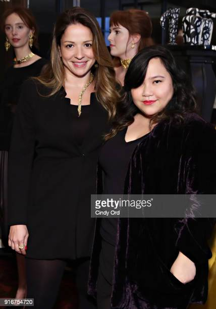 Jewelry Designer Jackie Barbosa and Designer Jasmine Chong attend the Jasmine Chong x GBGH Fall 2018 New York Fashion Week Presentation at Baccarat...