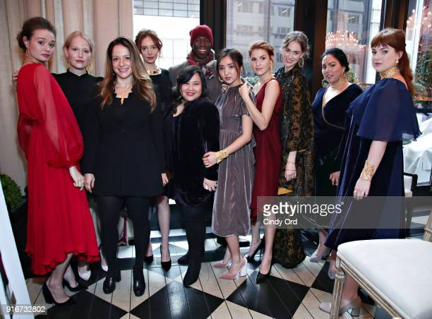 Jewelry Designer Jackie Barbosa designer Jasmine Chong and J Alexander attend the Jasmine Chong x GBGH Fall 2018 New York Fashion Week Presentation...
