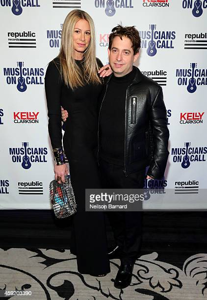 Jewelry designer Jennifer Fisher and Executive Vice President Of Republic Records, Charlie Walk attend Musicians On Call Celebrates Its 15th...