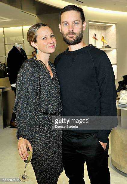 Jewelry designer Jennifer Meyer and actor Tobey Maguire attend a cocktail event with Barneys New York and HOLA to celebrate the newly renovated...