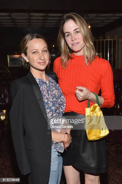 Jewelry designer Jennifer Meyer and Edie Parker Creative Director Brett Heyman attend Edie Parker's LA Dinner Party at La Dolce Vita on February 1...