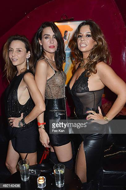 Jewelry designer Laetitia Crahay actress Victoria Olloqui and Chanezattends the 'Le Caca's Club' Book Launch Dinner at the Castel Club on October 9...