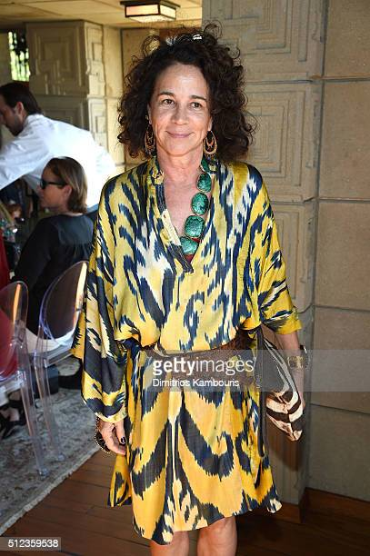 Jewelry designer Lisa Eisner attends the MAC Cosmetics Zac Posen luncheon at the Ennis House hosted by Karen Buglisi Weiler Demi Moore Jacqui Getty...