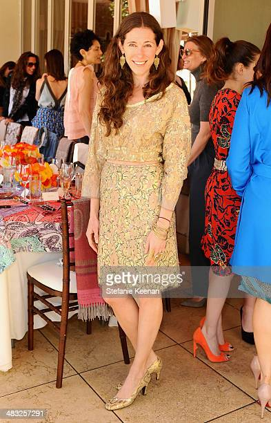 Jewelry designer Liseanne Frankfurt attends Vogue Lunch In Celebration Of The Etro Spring Collection Hosted By Sally Singer at Sunset Tower Hotel on...