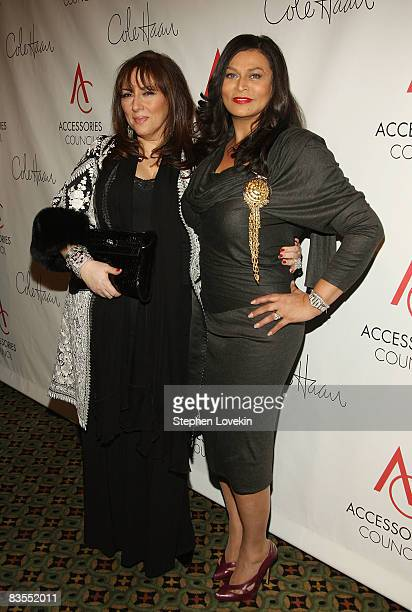 Jewelry designer Lorraine Schwartz and Tina Knowles attend the 12th Annual ACE Awards where the Accessories Council honors fashion influencers at...