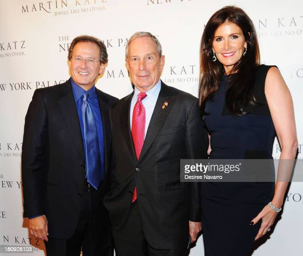 Jewelry designer Martin Katz New York City Mayor Michael Bloomberg and Kelly Katz attend The New York Palace's unveiling celebration at The New York...