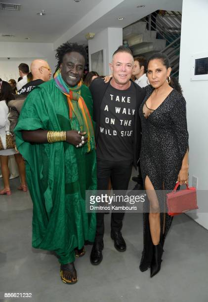 Jewelry designer Moko Shareef Malnik and Laurie Lynn Stark attend the opening of the new Chrome Hearts Gallery Cafe to celebrate their 3Year...