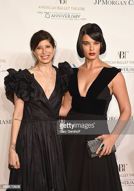 Jewelry designer Pamela Love and model Crystal Renn attend the American Ballet 75th Anniversary Fall Gala at David H Koch Theater at Lincoln Center...