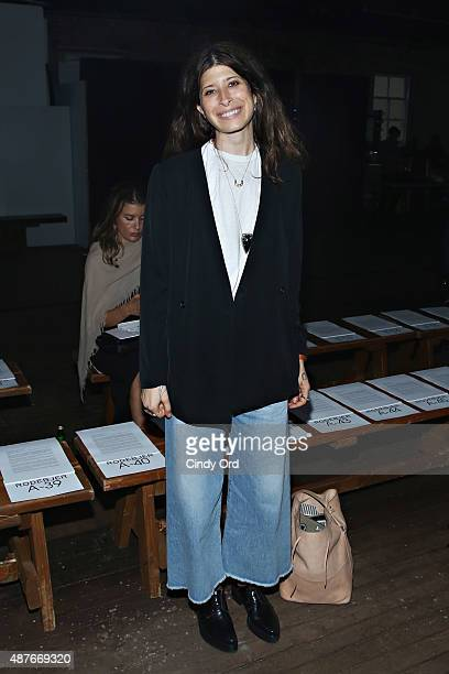 Jewelry designer Pamela Love attends the Rodebjer Spring 2016 fashion show during New York Fashion Week at Soho Lofts on September 10 2015 in New...