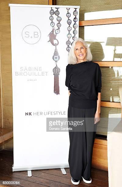 Jewelry designer Sabine Brouillet attends Sabine Brouillet's jewelry pop up hosted by Nikita Kahn and Katya Teper at Nobu Malibu on December 14 2016...