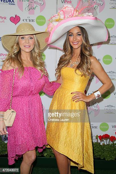 Jewelry designer Sharon Lawson and How2Girl / radio personality Courtney Sixx arrive at the 2nd Annual How2Girl Kentucky Derby Ladies Luncheon on May...