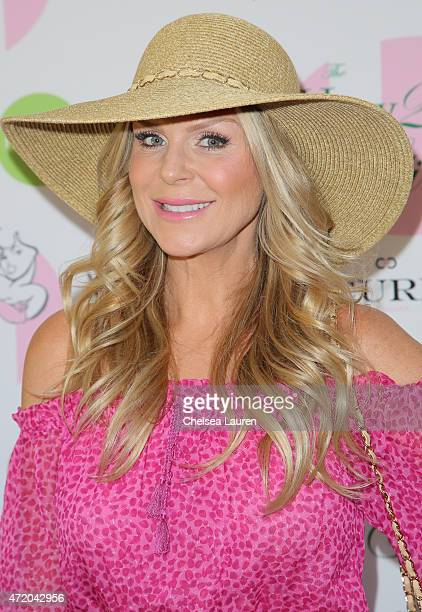 Jewelry designer Sharon Lawson arrives at the 2nd Annual How2Girl Kentucky Derby Ladies Luncheon on May 2 2015 in Westlake Village California