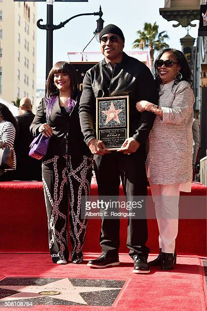 Jewelry designer Simone Smith rapper/actor LL Cool J and Ondrea Smith attend a ceremony honoring LL Cool J with the 2571st Star on The Hollywood Walk...