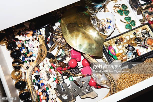 Jewelry designer Yaz Bukey's jewelry is photographed for Madame Figaro on July 5 2016 in Paris France PUBLISHED IMAGE CREDIT MUST READ Theodora...