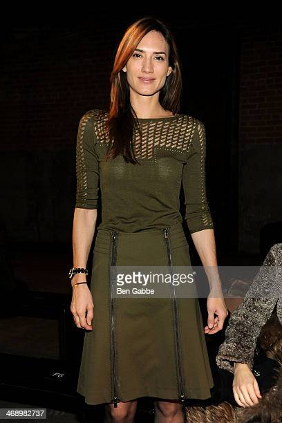 Jewelry designer Zani Gugelmann attends the Philosophy By Natalie Ratabesi fashion show during MercedesBenz Fashion Week Fall 2014 at Eyebeam on...