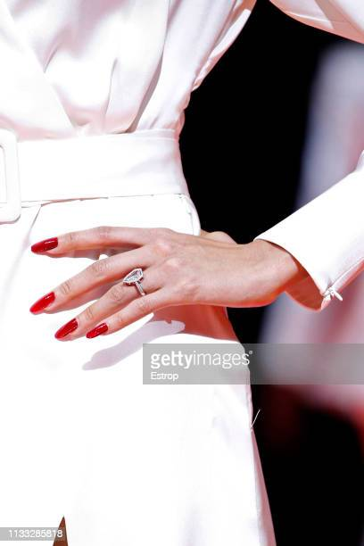 Jewelry detail during the Tommy Hilfiger TOMMYNOW Spring 2019 TommyXZendaya Premieres at Theatre des ChampsElysees on March 2 2019 in Paris France