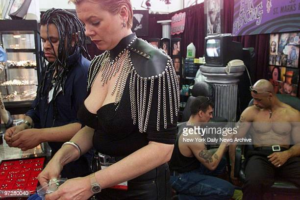 Jewelry for body piercing was displayed at the Erotica Show at the Jacob Javits Convention Center