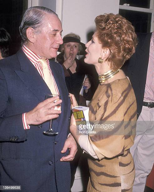 Jewelry Kenneth J Lane and cosmetic entrepreneur Georgette Mosbacher attend the Party to Celebrate Bob Colacello's Book 'Holy Terror Andy Warhol...