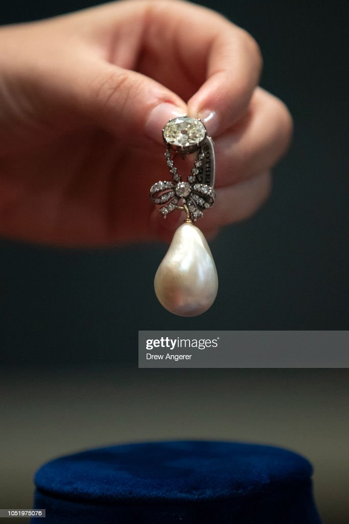 Jewelry Worn By Marie Antoinette Goes On Display At Sotheby's Auction House : News Photo