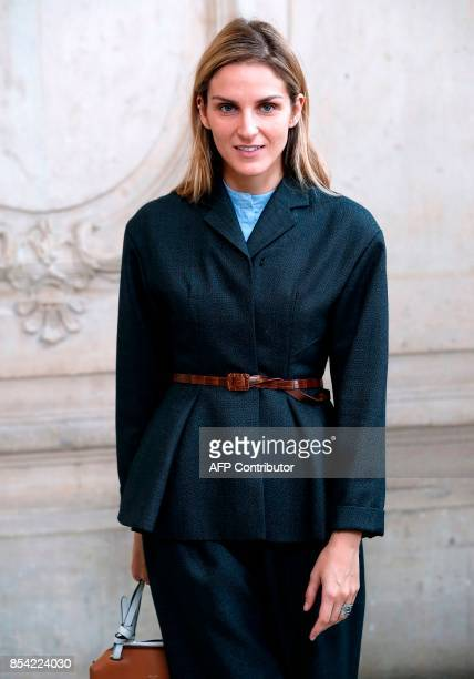 Jewels designer Gaia Repossi poses during a photocall before the Christian Dior women's 2018 Spring/Summer readytowear collection fashion show in...
