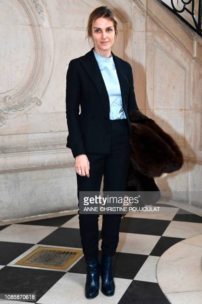 Jewels designer Gaia Repossi poses during a photocall prior to the 2019 SpringSummer Haute Couture collection fashion show by Christian Dior in Paris...