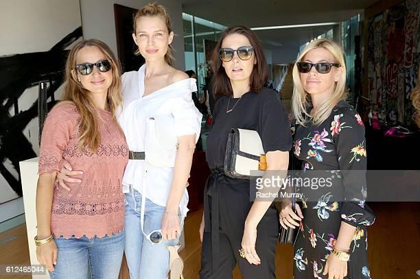 Jewerly designer Jen Meyer actress Sara Foster Cassandra Grey and Stephanie Steinman attend Tamara Mellon's celebration of the relaunch of her luxury...