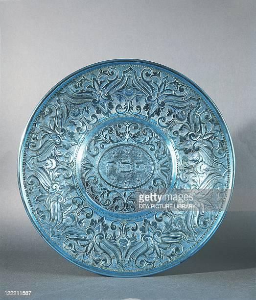 Jewish Art Italy 19th century Ritual Passover Seder Brass Plate with Jewish inscription Pesach