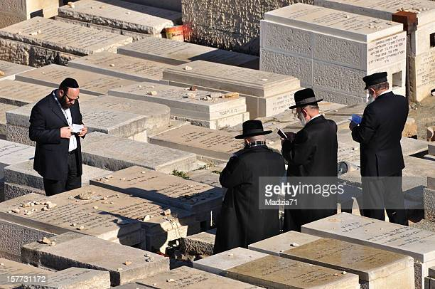 jewish cementery in jerusalem - mount of olives stock photos and pictures