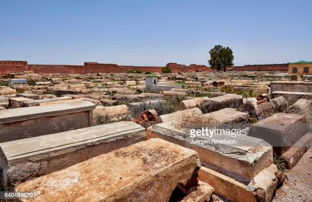 "jewish cemetery ""cimetière de bab ghmat"" in marrakesh - jewish museum stock pictures, royalty-free photos & images"