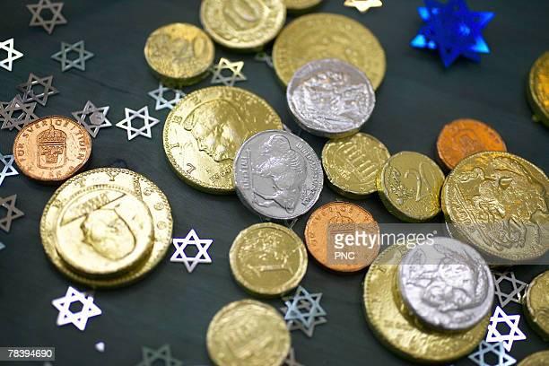 Jewish chocolate coins