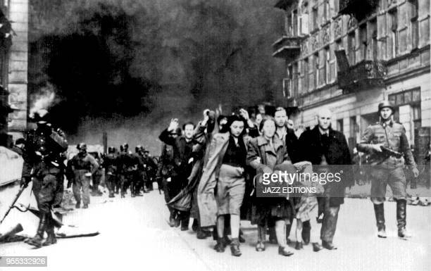 copy of a German photograph taken during the destruction of the Warsaw Ghetto Poland 1943