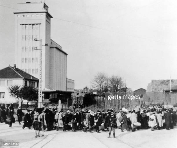 Jewish deportees arrive in the transit camp of Pithiviers on May 1941 According to the 04 October 1940 antijewish law and under German pressure more...
