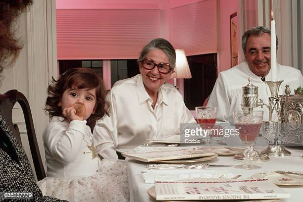 Jewish Family Celebrating Seder