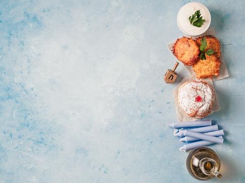 jewish holiday Hanukkah concept background 1055664980