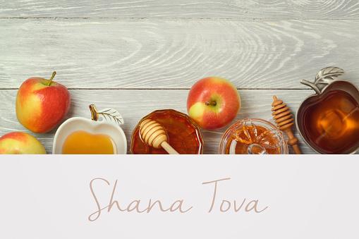 Jewish holiday Rosh Hashana creative background 958135546