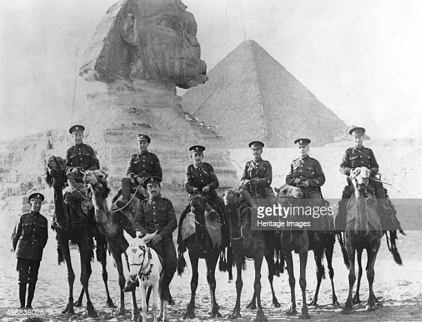 Jewish Legionaries on camels Giza Egypt World War I 19151918 Fourth from the right is Sergeant Samuel Wolfson elder brother of Sir Isaac Wolfson The...