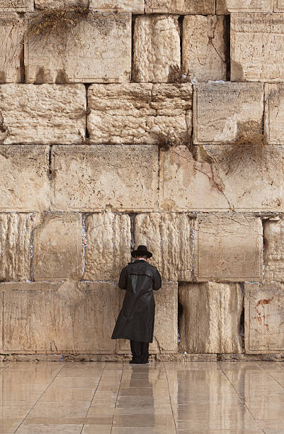 Jerusalem, Jewish Man Praying At The Wailing Wall Wall Art