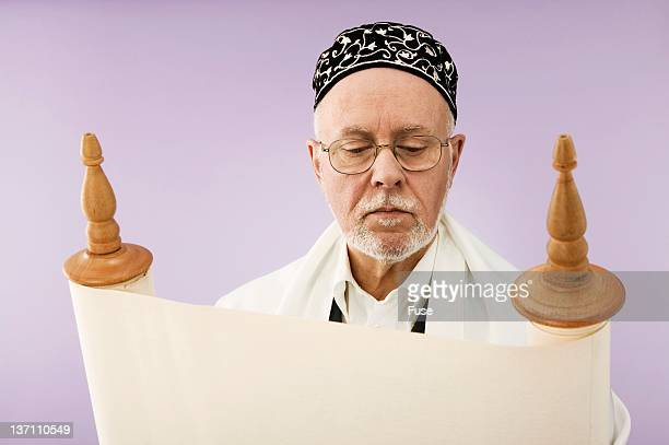 jewish man reading the torah - torah stock pictures, royalty-free photos & images