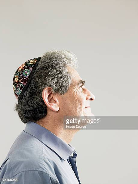 Jewish man wearing a kippah