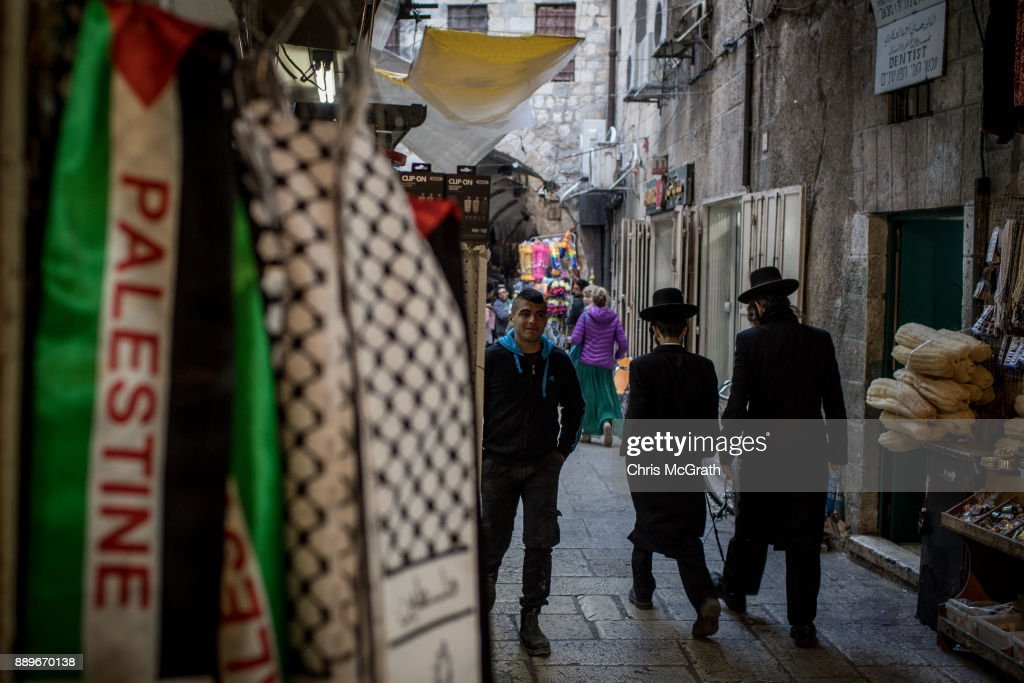 Jerusalem Divisions Intensify After Trumps Embassy Announcement : News Photo