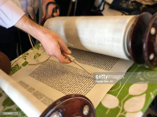 Jewish Men Reading the Torah