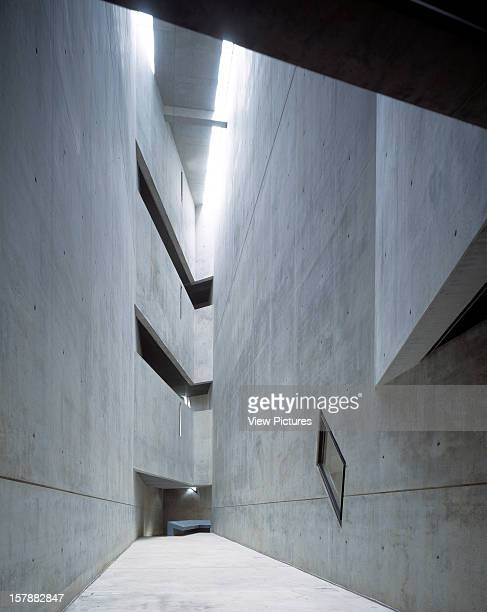 Jewish Museum, Berlin, Germany, Architect Daniel Libeskind Jewish Museum Void At Eastern End Of Museum.