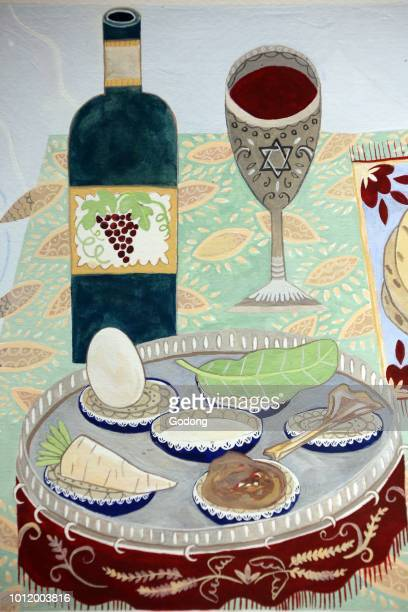 Jewish Museum of Switzerland Basel A table set up for a Passover Seder