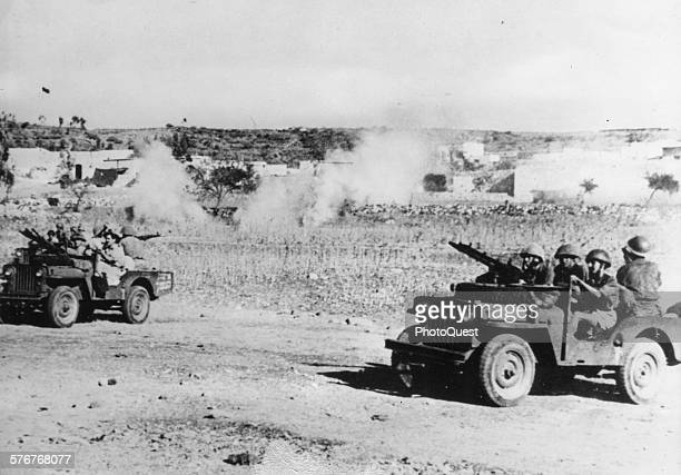 Jewish paramilitary organization Haganah attacking Palestinian Arab villages in Galilee Palestine 1948