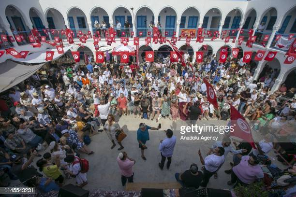 Jewish people gather to celebrate Lag B'Omer Holiday at El Ghriba synagogue in Djerba Tunisia on May 22 2019