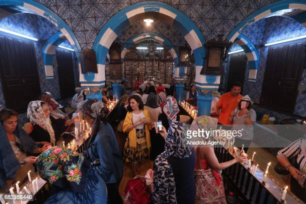 Jewish pilgrims from Tunisia and around the world observe their annual pilgrimage at El Ghriba Synagogue the oldest Jewish monument built in Africa...